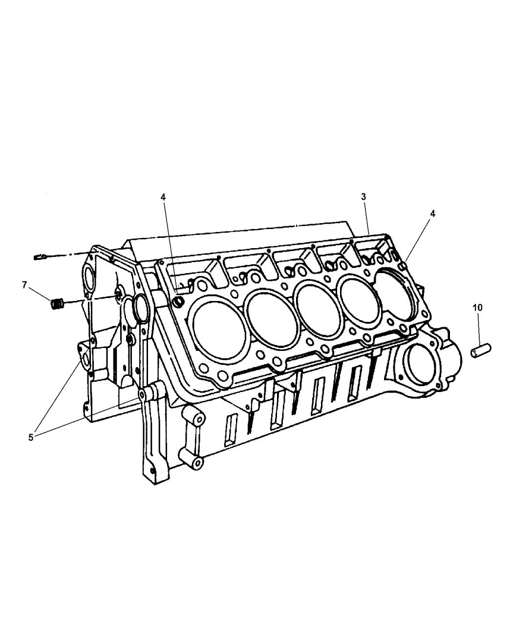 2004 Dodge Viper Block, Cylinder