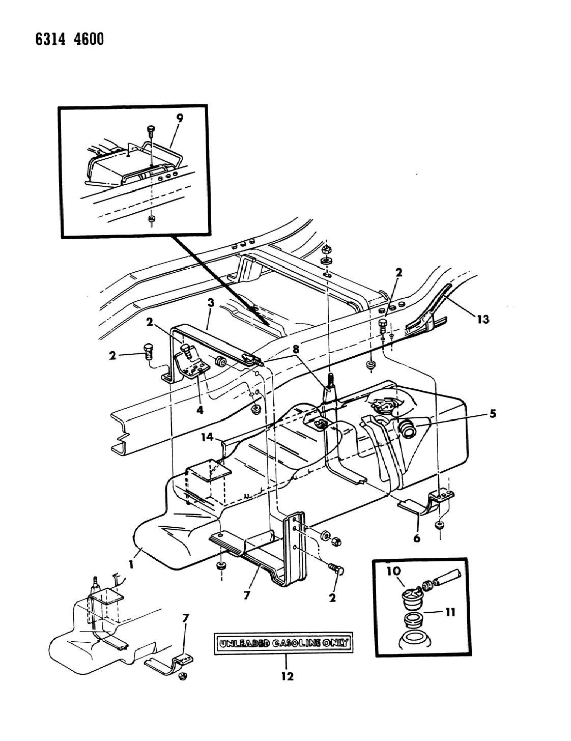 1987 Dodge Ramcharger Fuel Tank - Mopar Parts Giant on cyclone wiring diagram, malibu wiring diagram, challenger wiring diagram, regal wiring diagram, caravan wiring diagram, allante wiring diagram, w200 wiring diagram, thunderbolt wiring diagram, charger wiring diagram, d150 wiring diagram, explorer wiring diagram, chrysler wiring diagram, van wiring diagram, vip wiring diagram, ram wiring diagram, viper wiring diagram, tracker wiring diagram, suburban wiring diagram, pickup wiring diagram, dakota wiring diagram,