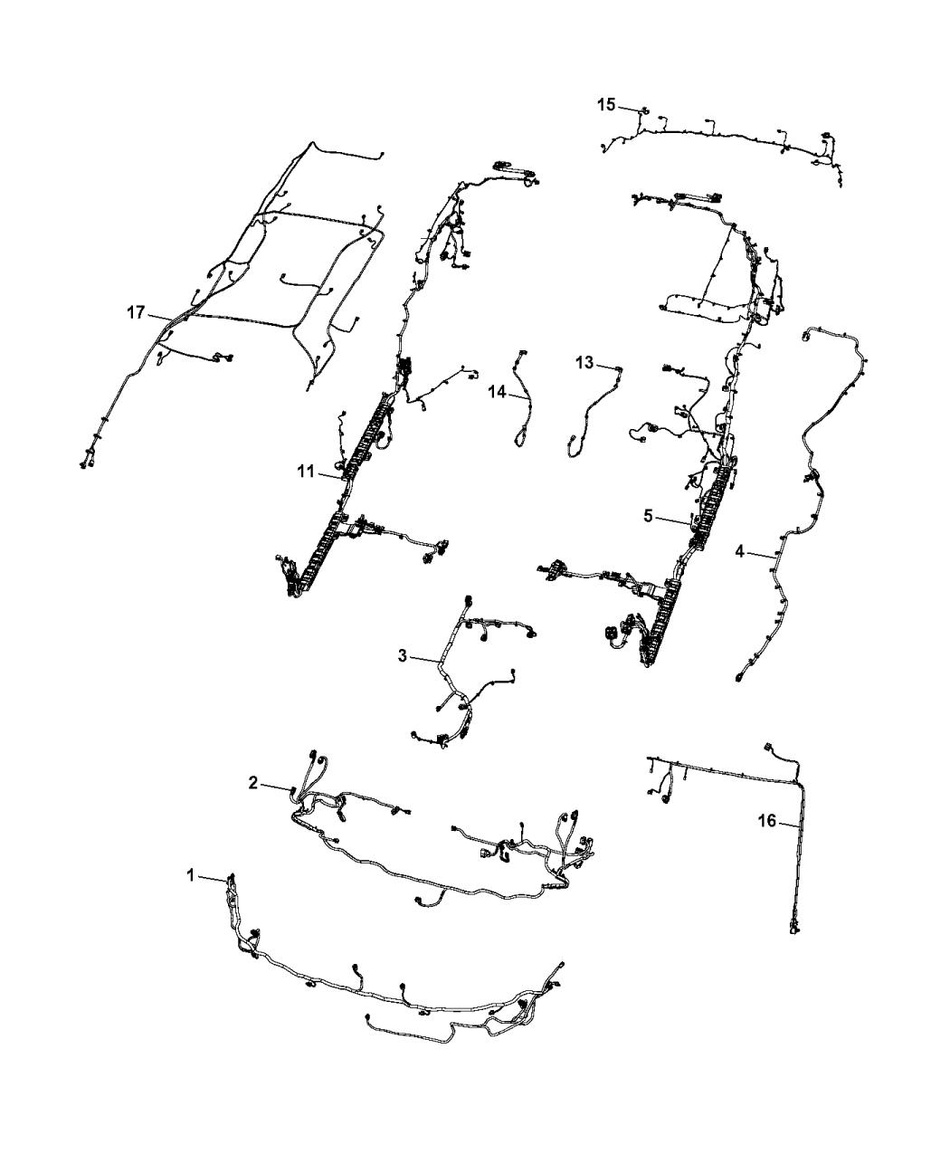 2017 chrysler pacifica wiring - body