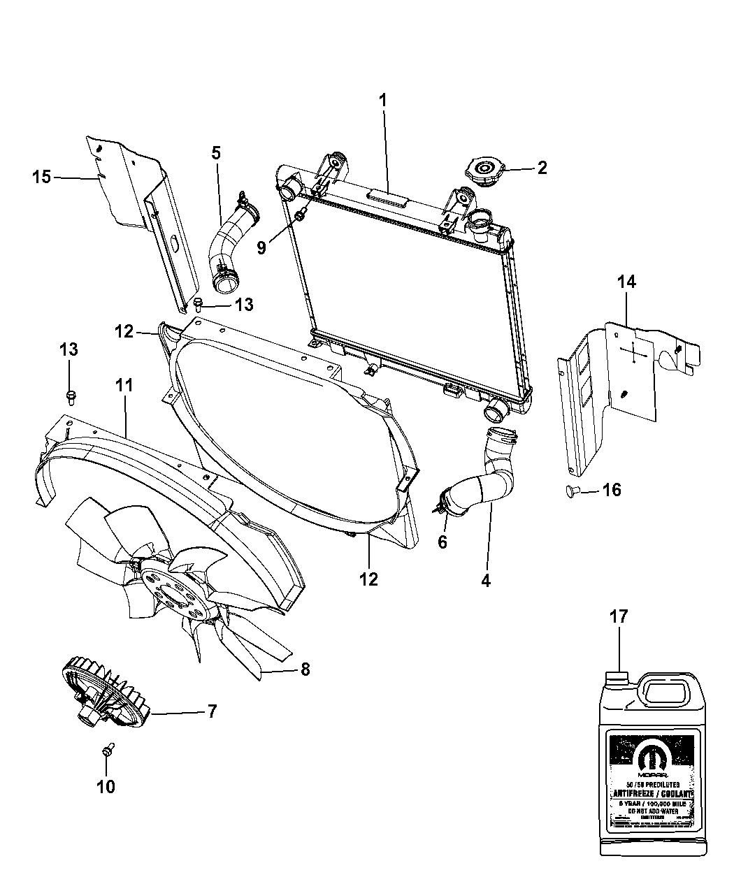 Genuine Mopar RADIATOR-ENGINE COOLING