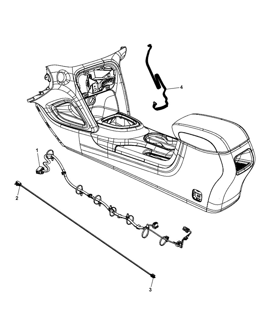 2013 Dodge Dart Wiring - Console