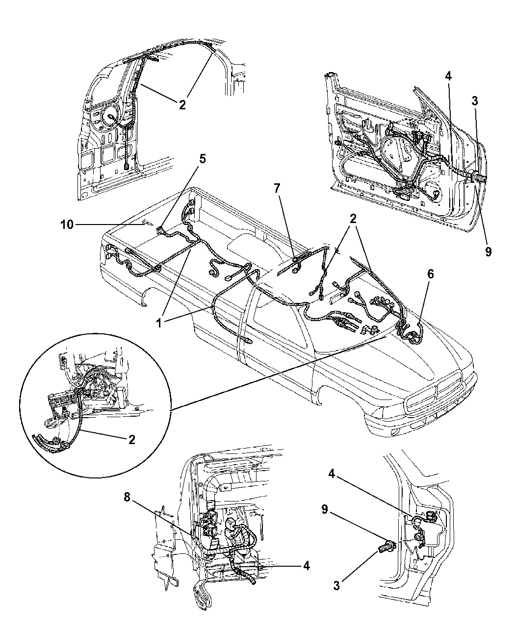 1999 Dodge Dakota Electrical Wiring Library Diagram Body Accessories