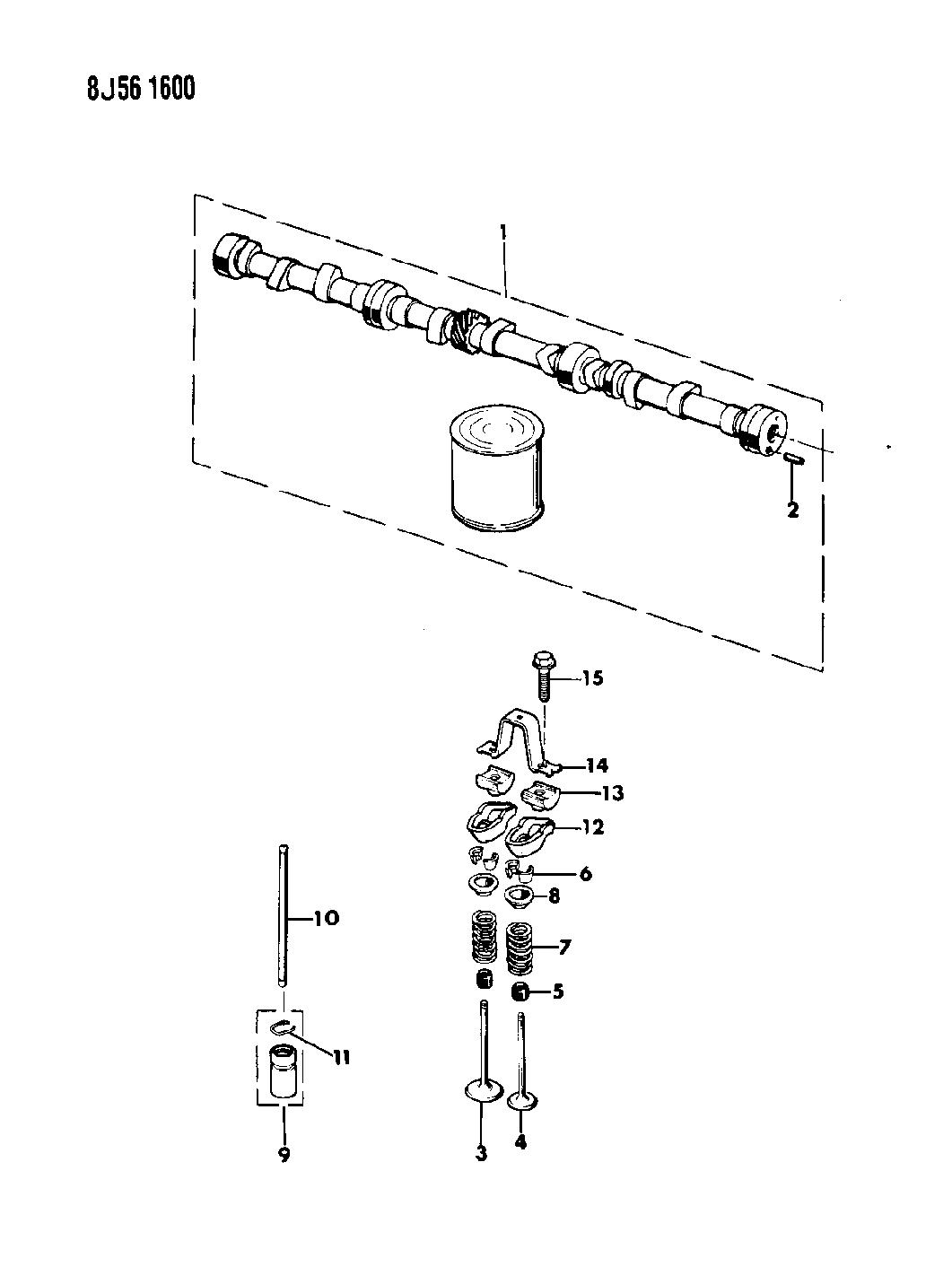 1989 Jeep Wrangler Camshaft Valves Mopar Parts Giant Engine Diagram Thumbnail 2