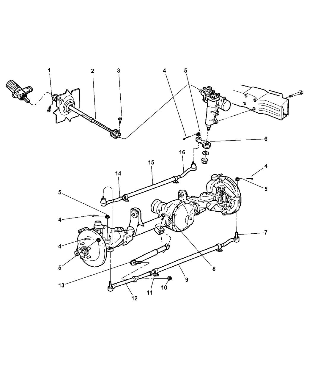 Genuine Chrysler 52088511 Steering Tie Rod