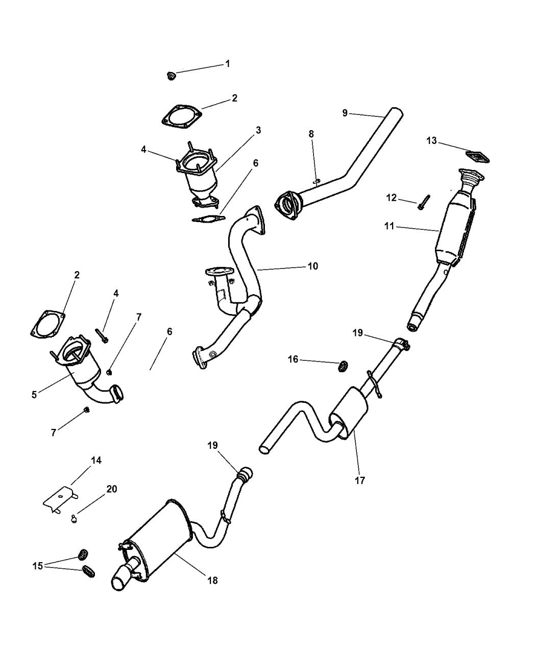 2002 Chrysler Sebring Sedan Convertible Exhaust System Diagram Of