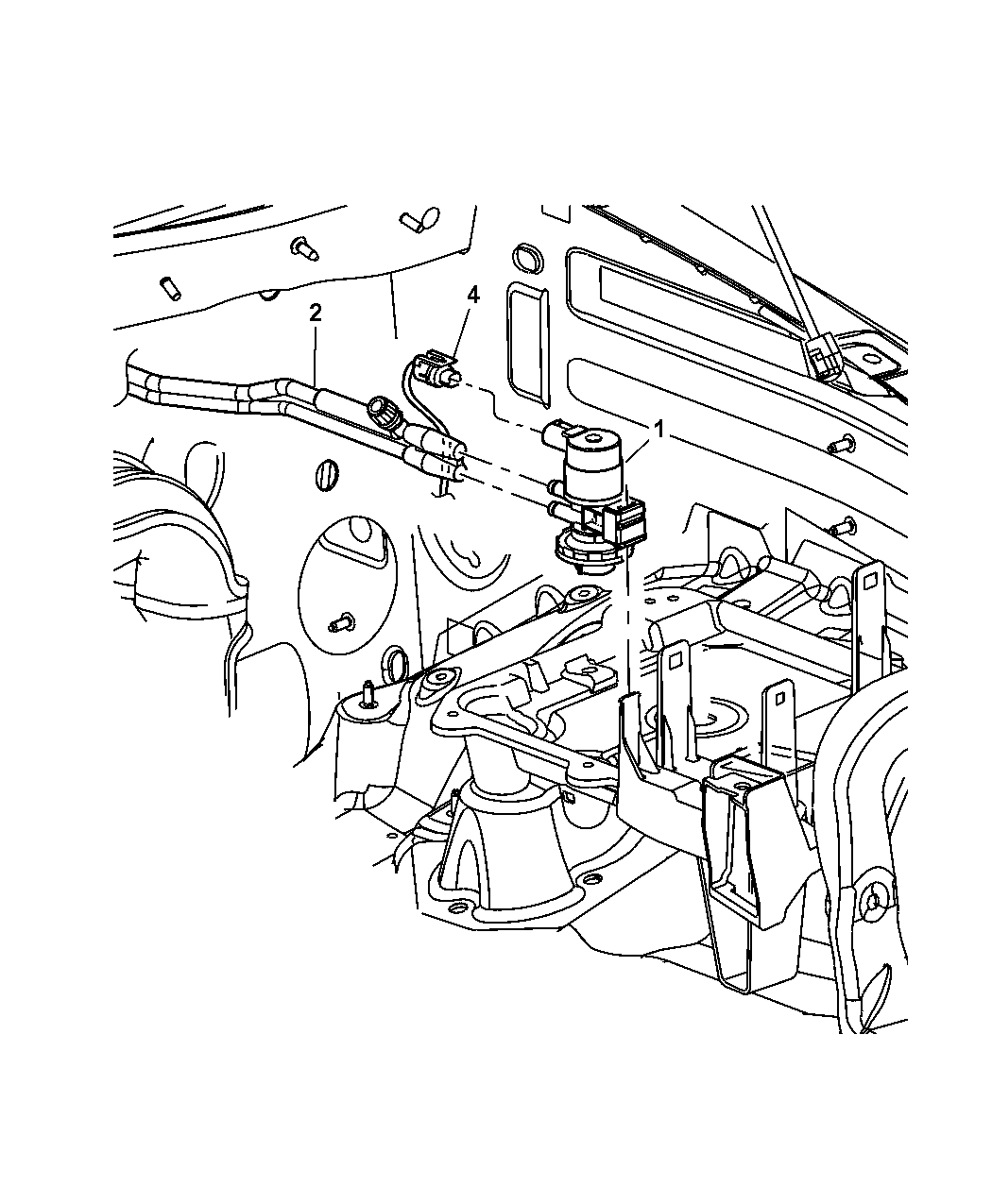 53013363ac Genuine Jeep Tube Vacuum Liberty Engine Part Diagram 2003 Emission Harness
