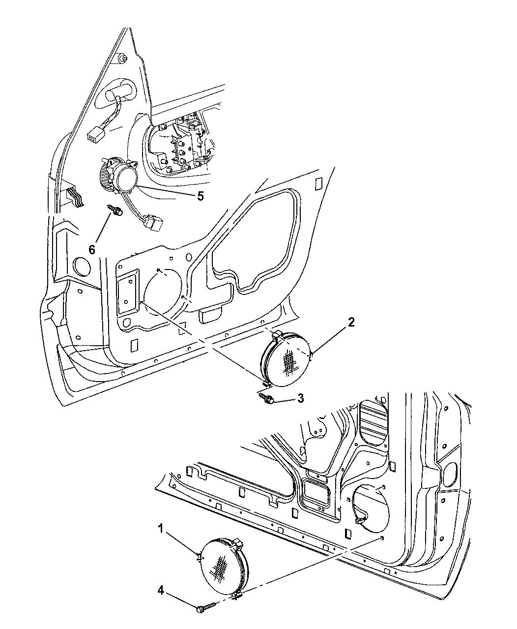 1999 Dodge Durango Speakers