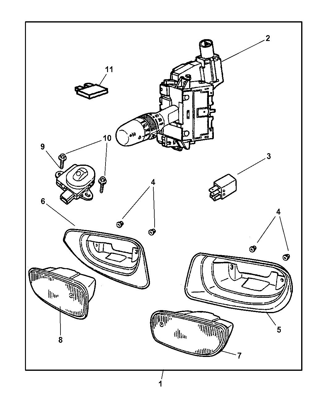2000 Jeep Grand Cherokee Light Package - Fog - Mopar Parts Giant