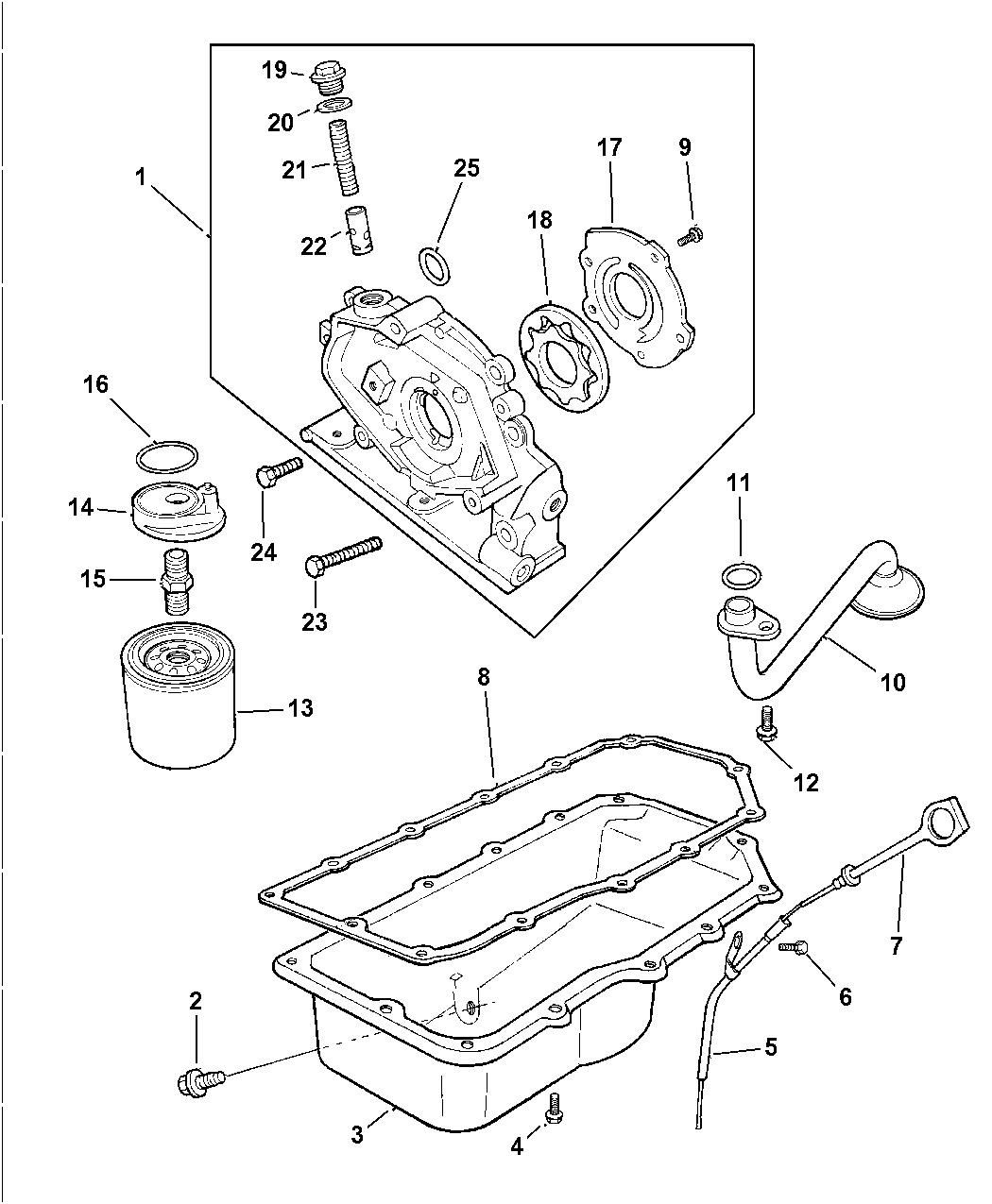 1997 Dodge Avenger Engine Oiling