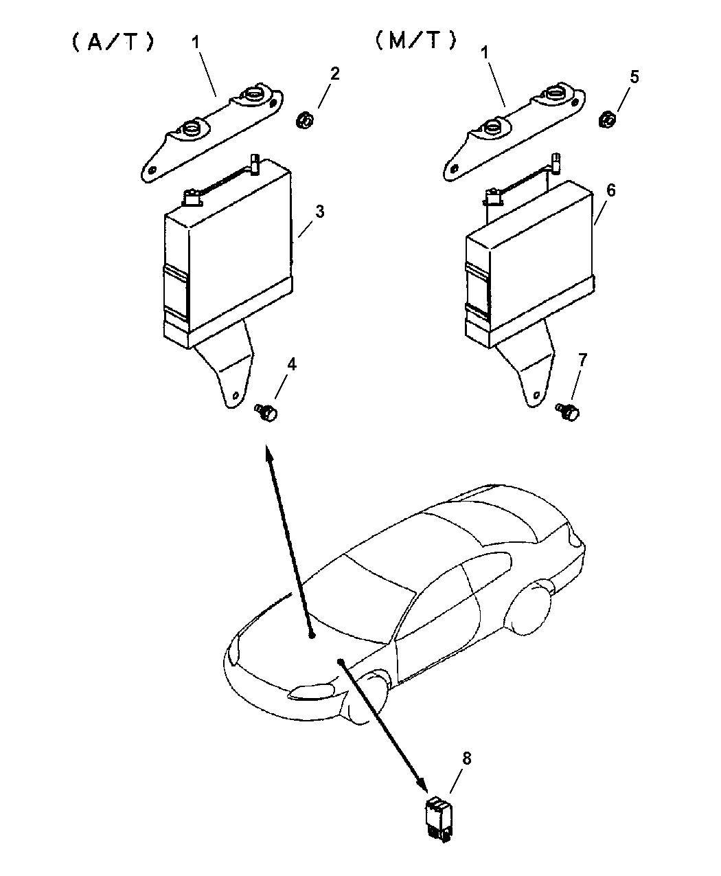 2001 Chrysler Sebring Coupe Modules, Engine Control Units