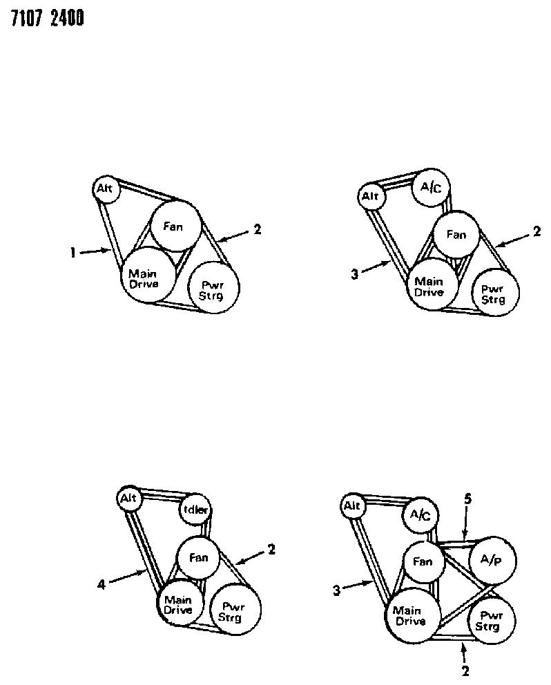 CHRYSLER B0013605 Replacement Belt