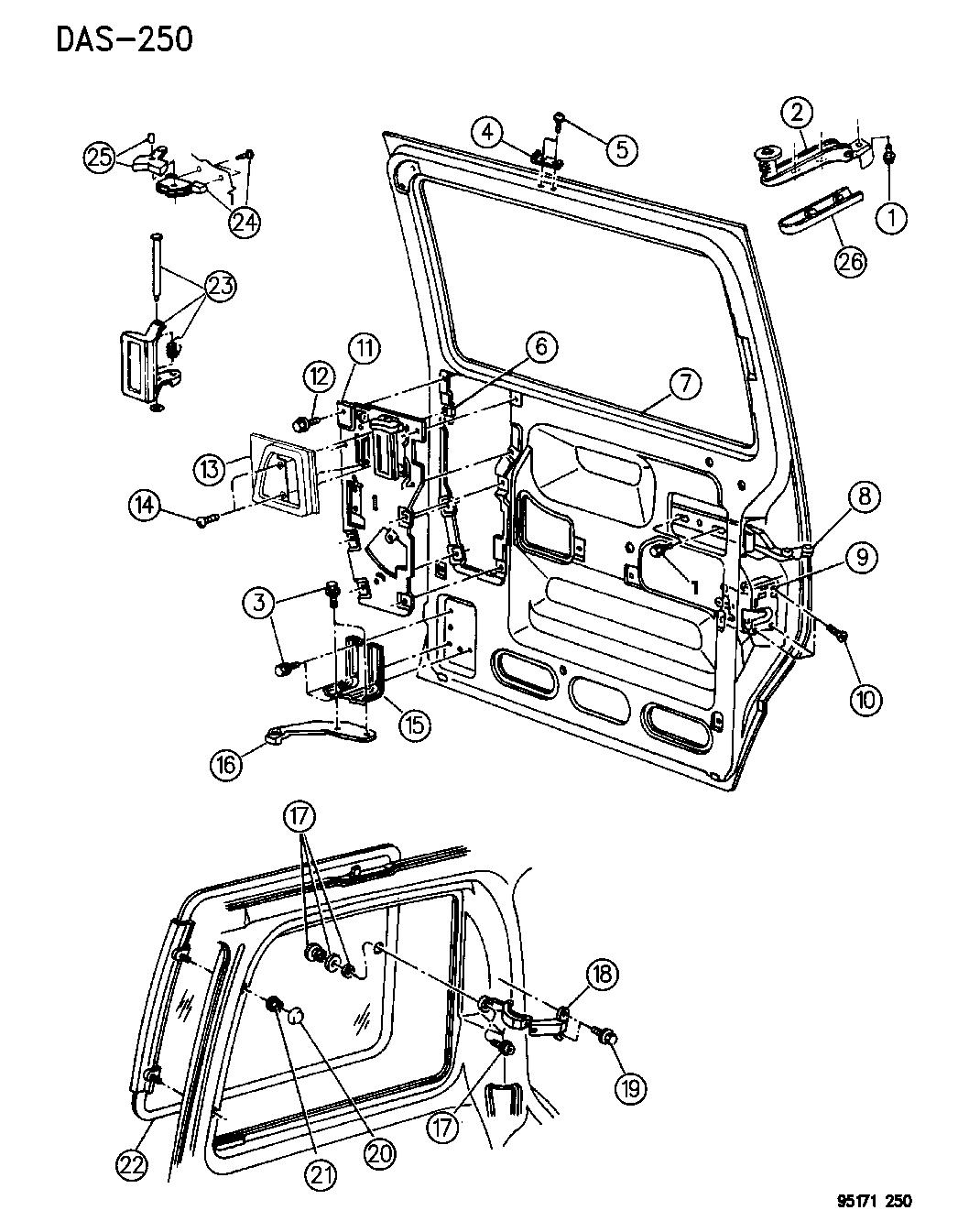 4673202 Genuine Dodge Hinge Assy Sliding Door Center