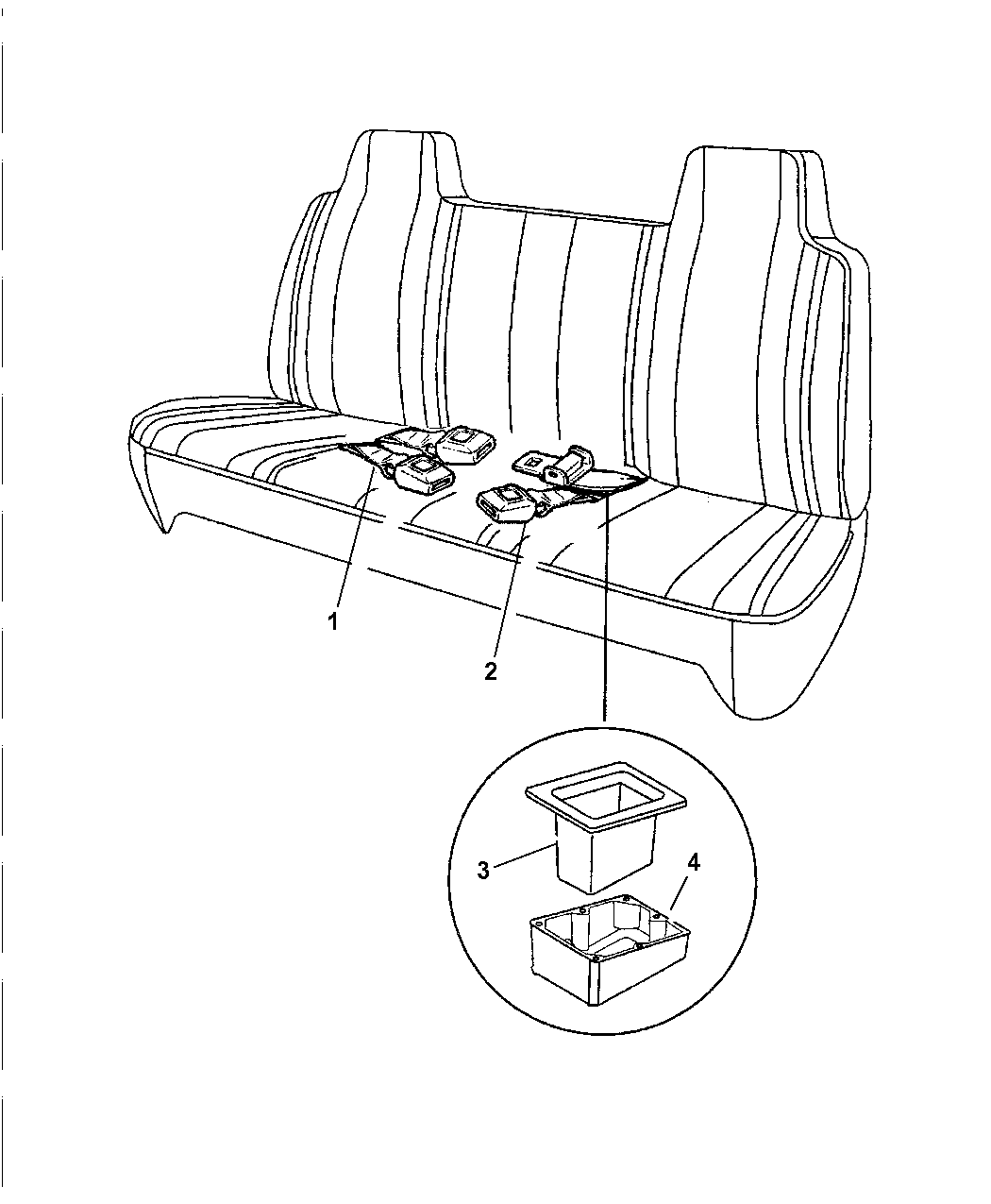 Outstanding 1999 Dodge Ram 1500 Regular Cab Belts Lap Bench Seat Dailytribune Chair Design For Home Dailytribuneorg