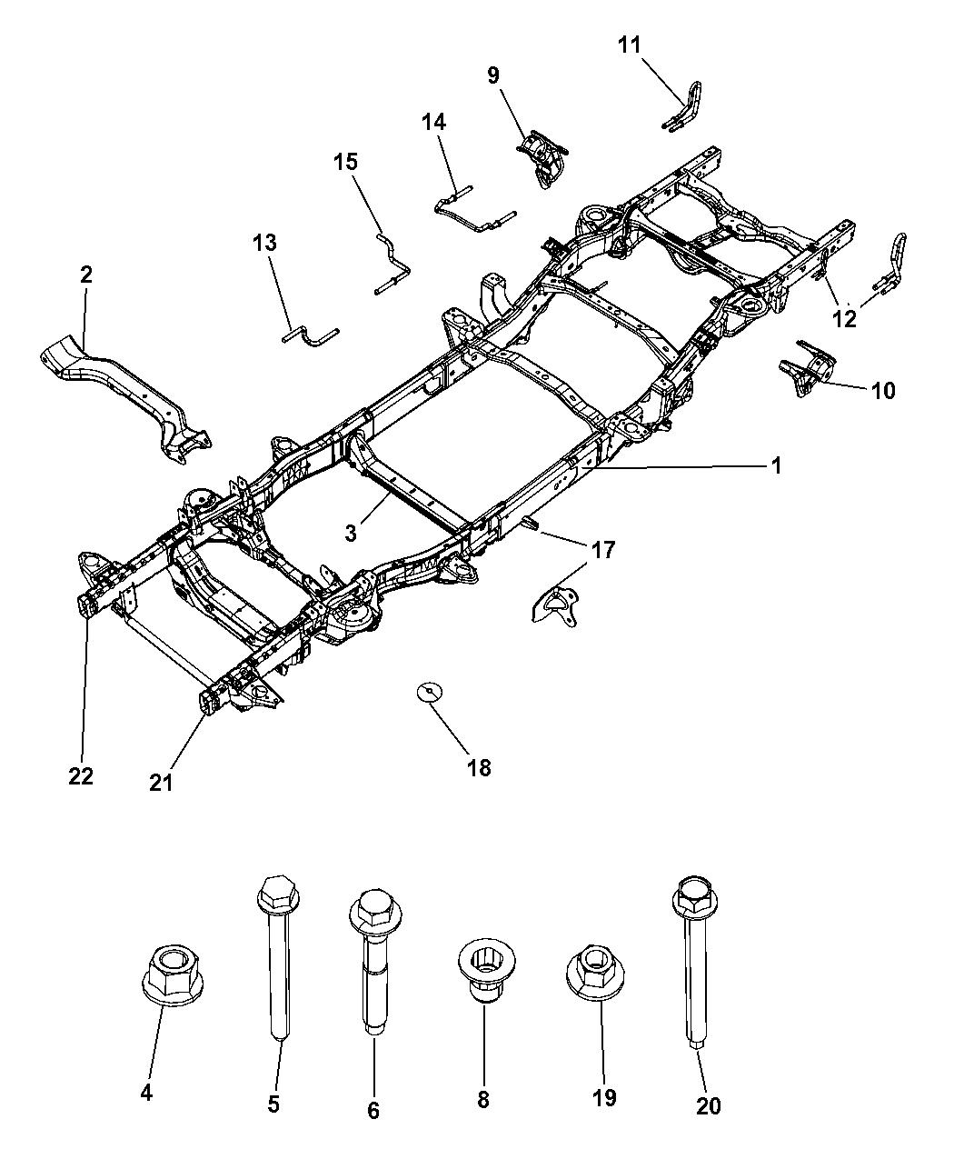 dodge ram frame parts