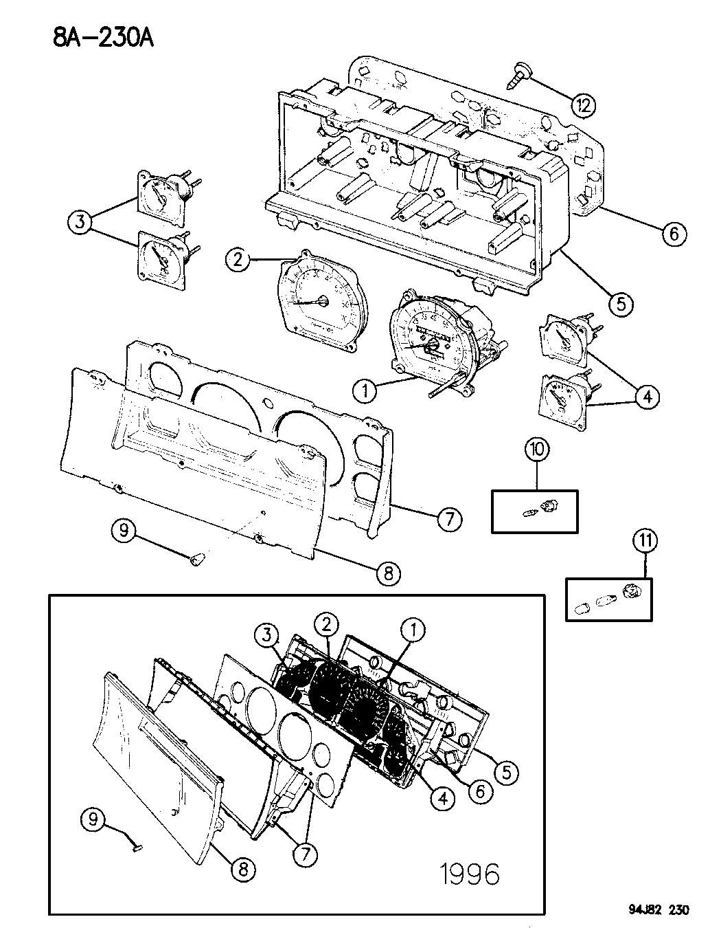1994 Jeep Grand Cherokee Instrument Cluster - Mopar Parts ...