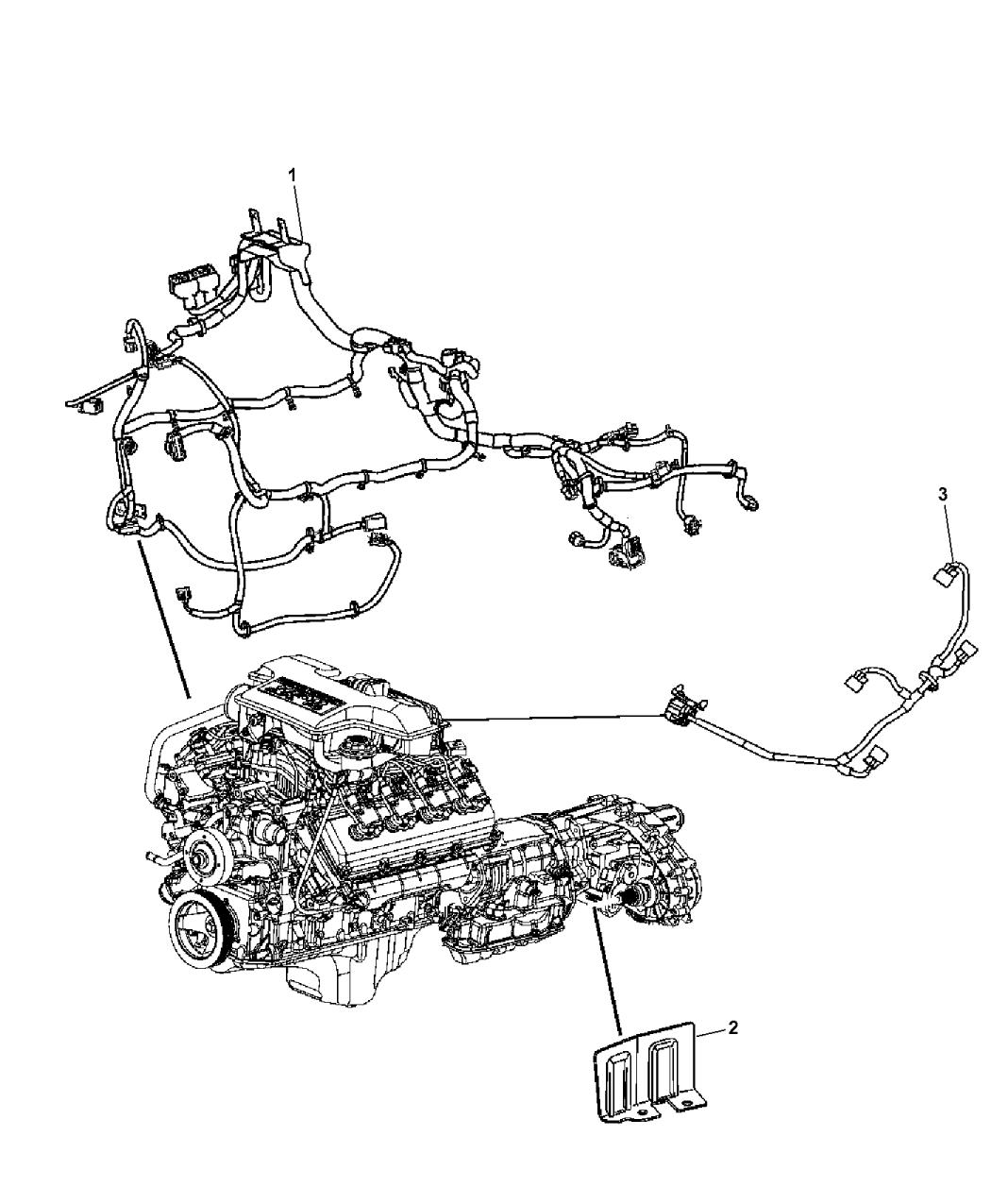 2007 Chrysler Aspen Wiring - Engine