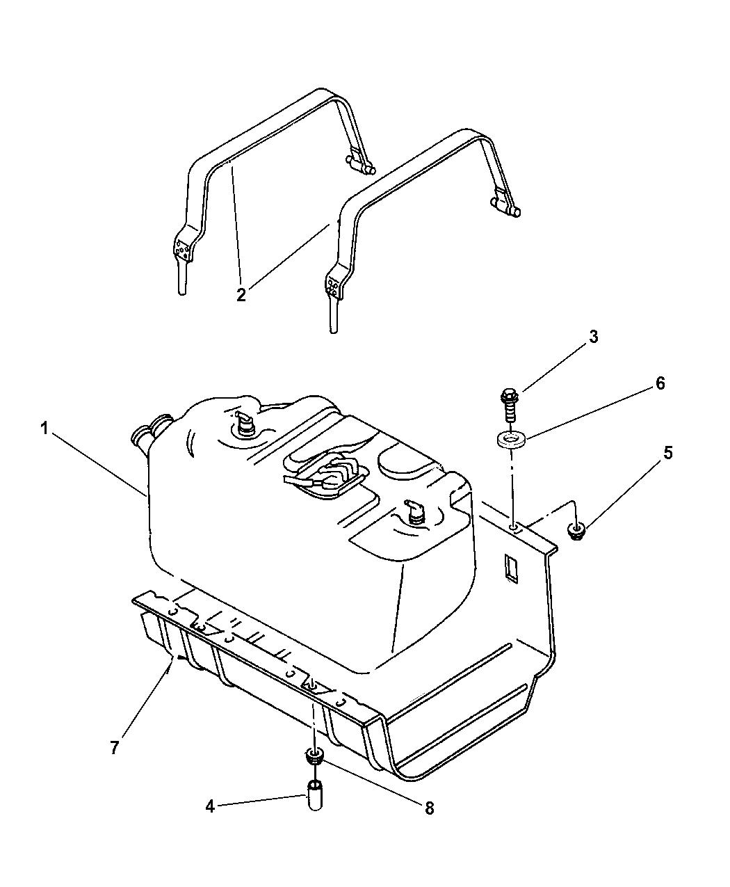 1997 jeep wrangler fuel tank