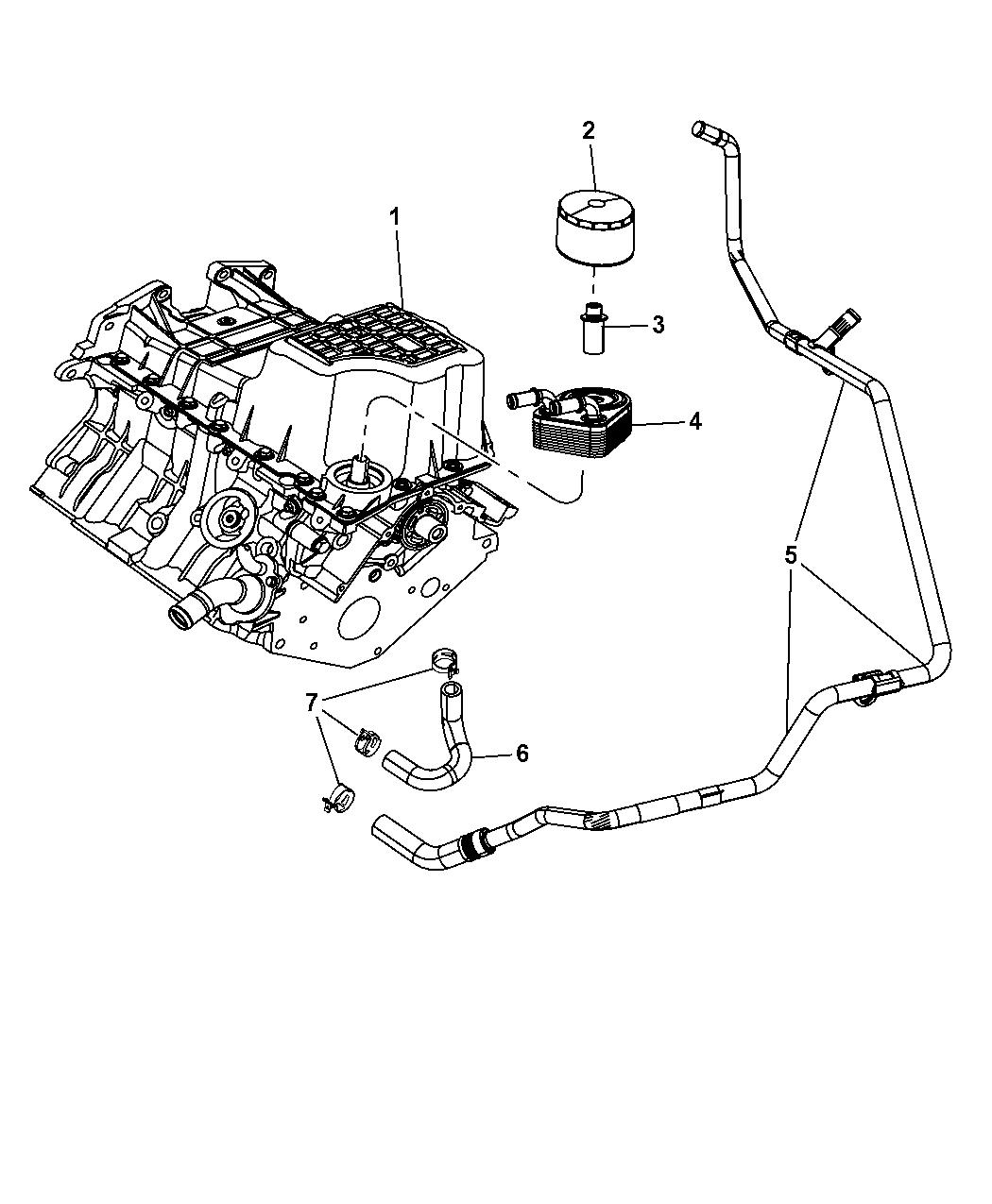 2007 Chrysler 300 Engine Oiling Pump Pan Filter Indicatoroil Timing Belt Touring Cooler