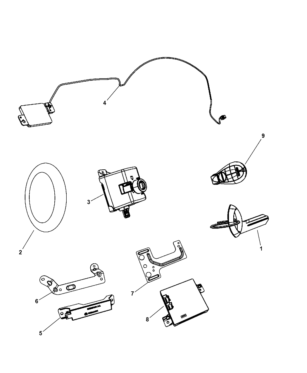 2011 Dodge Grand Caravan Receiver Modules Keys Key Fobs Electric Ke Wiring Diagram