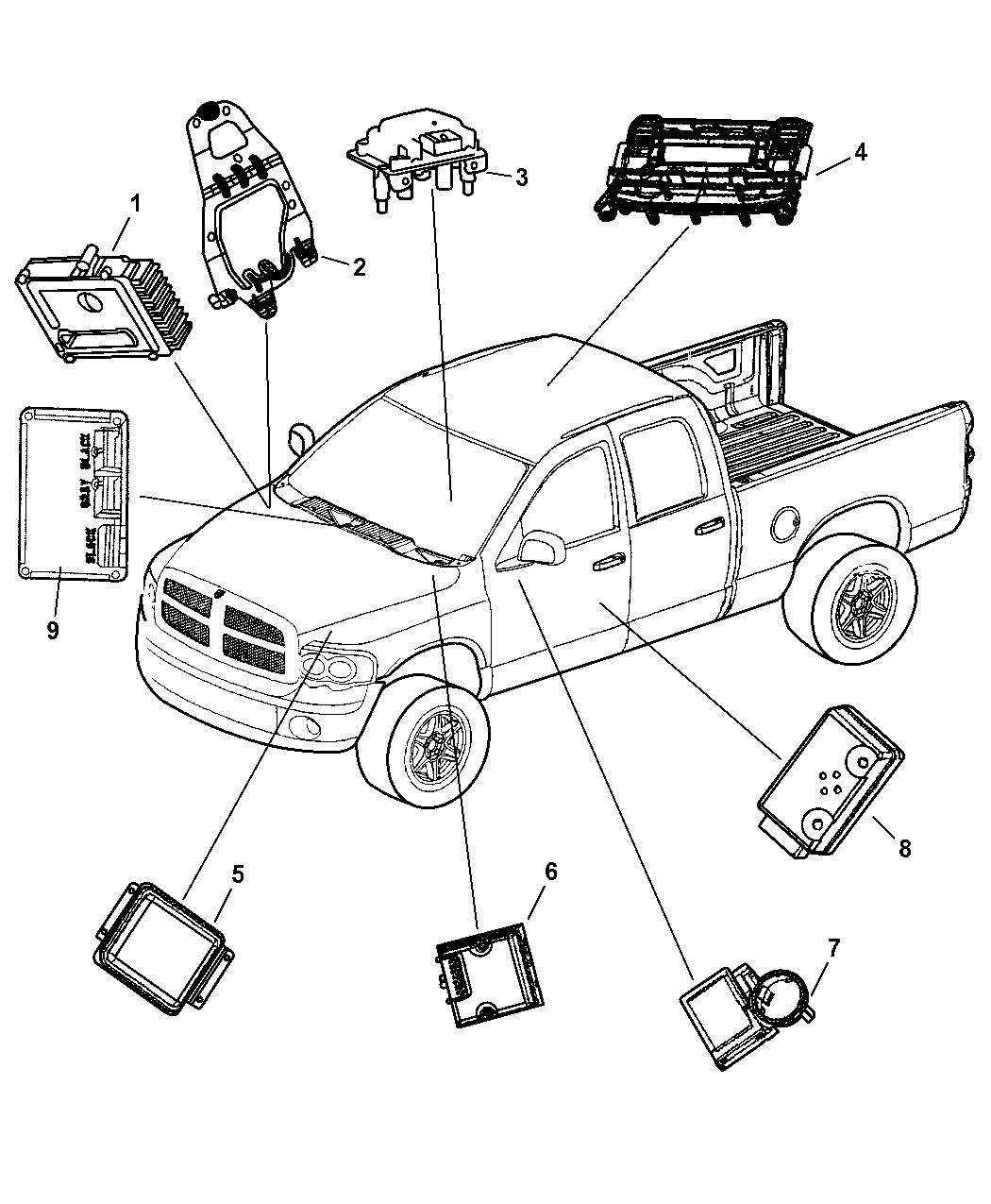2002 Dodge Ram 1500 Modules