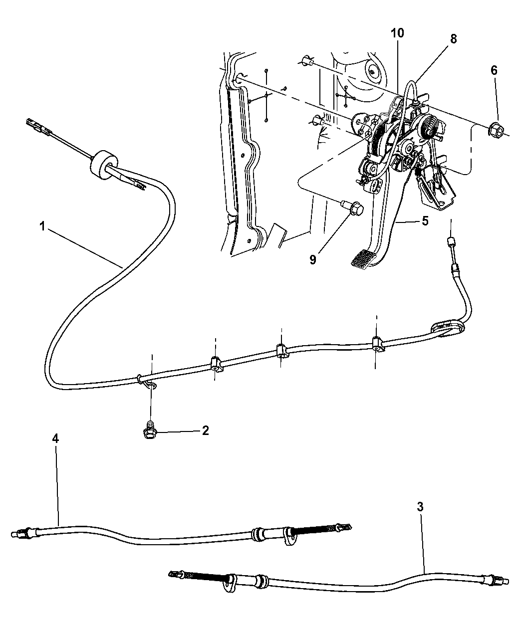 2005 Chrysler 300 Lever Assembly Cables Parking Brake Marine Cooling Diagram