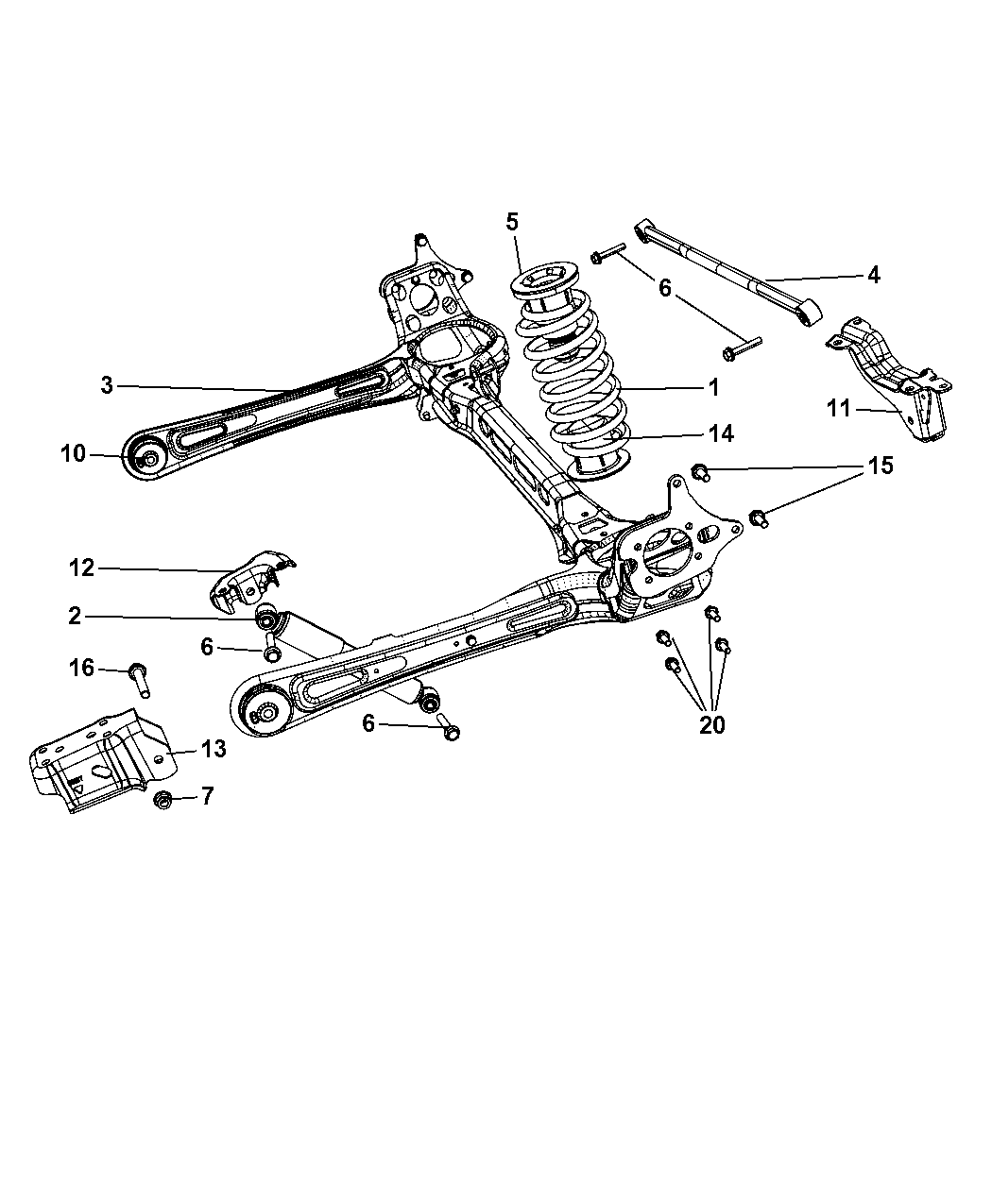 2009 dodge grand caravan suspension - rear