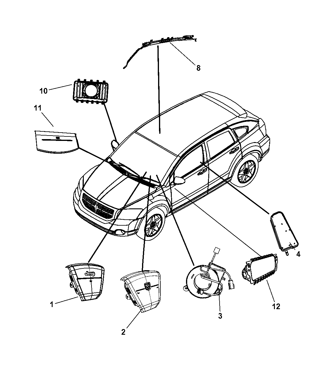 2007 Dodge Caliber Air Bags Clock Spring Mopar Parts Giant Wiring Schematic Starting