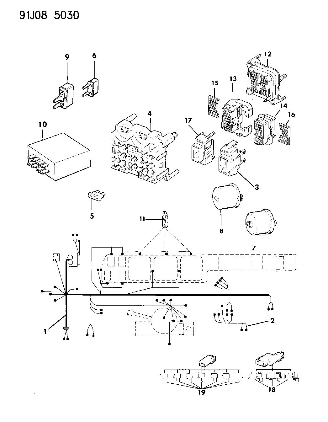 1991 Grand Wagoneer Wiring Diagram