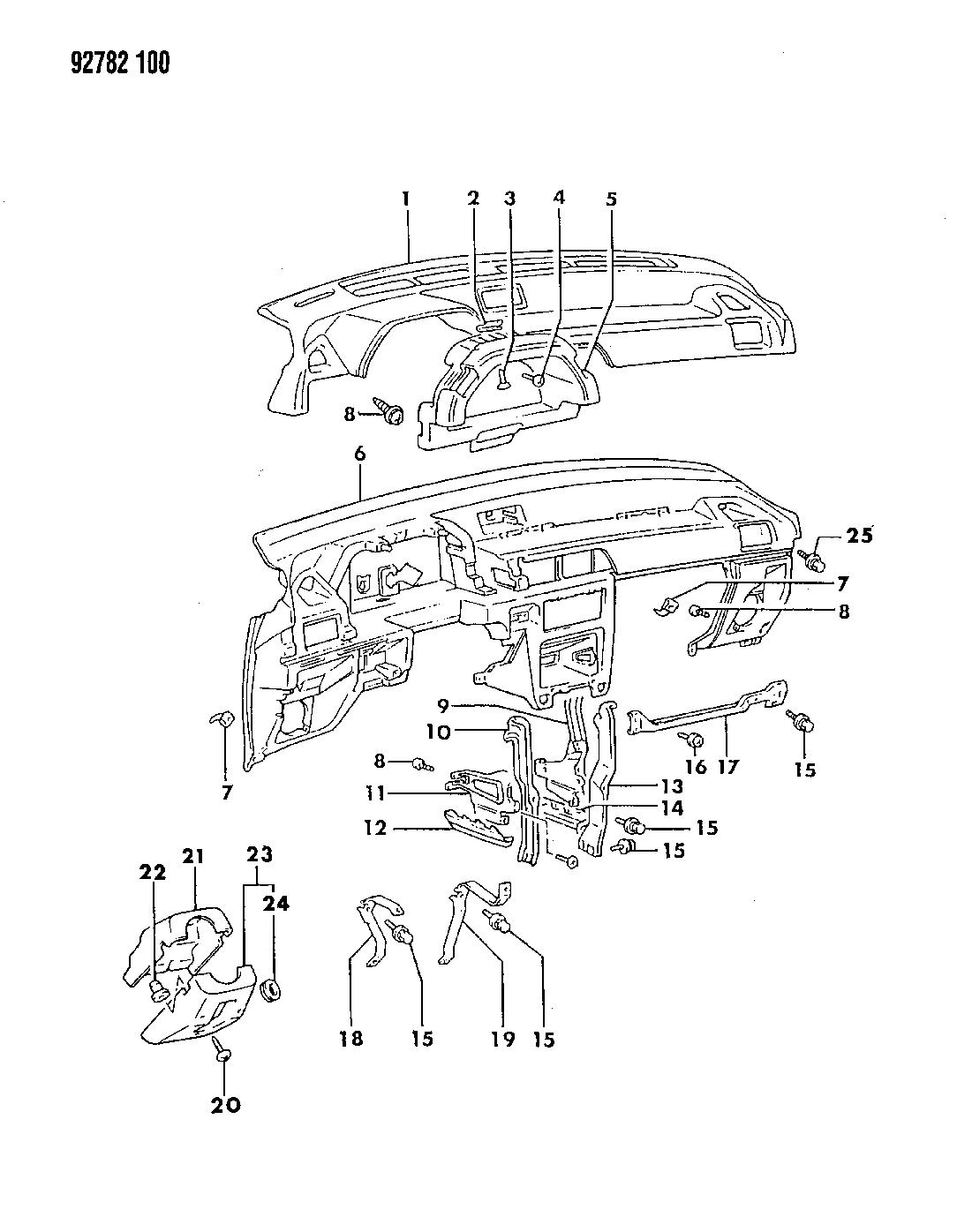 1993 Dodge Colt Instrument Panel - Thumbnail 2