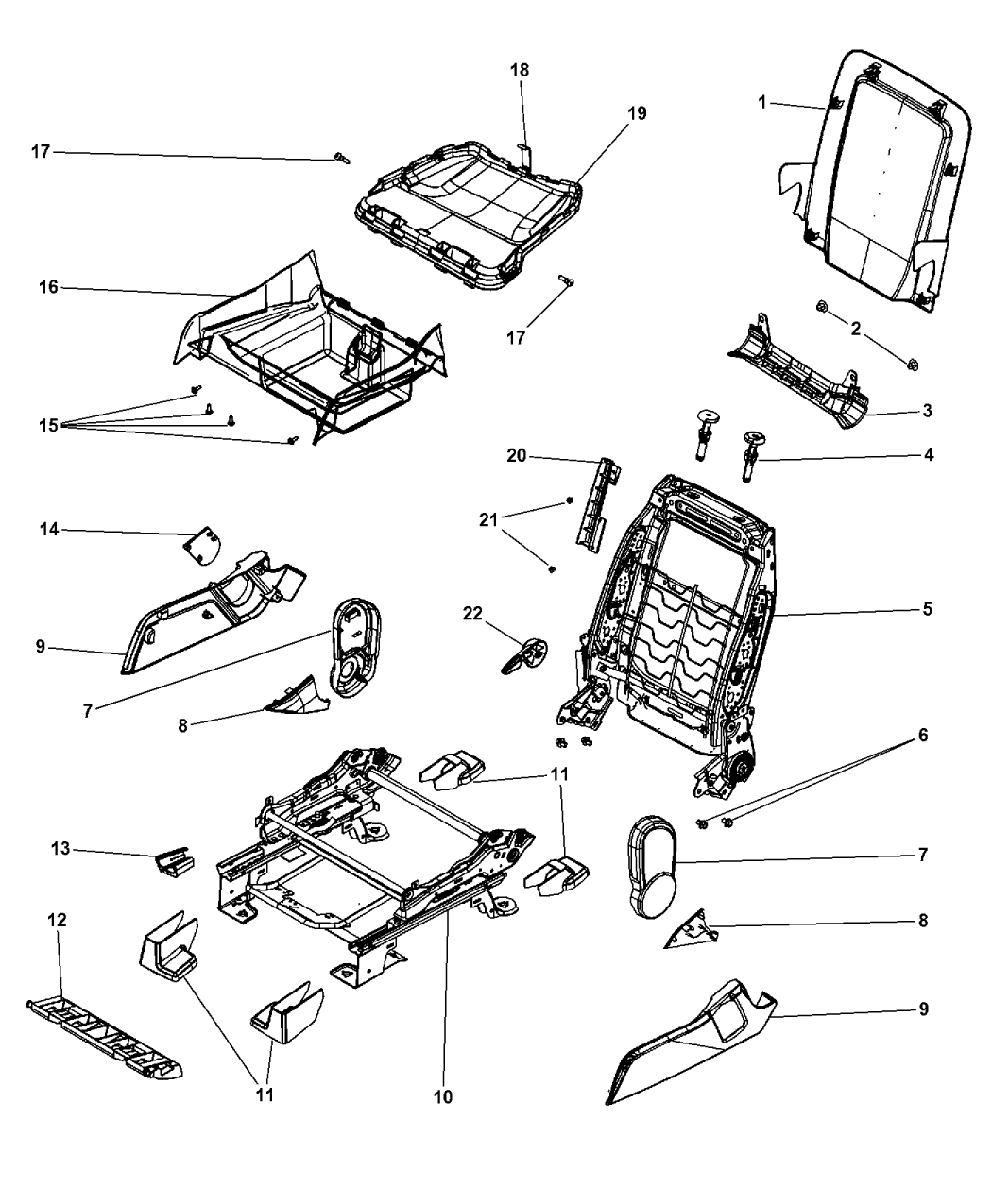 2009 Dodge Journey Seat Diagram