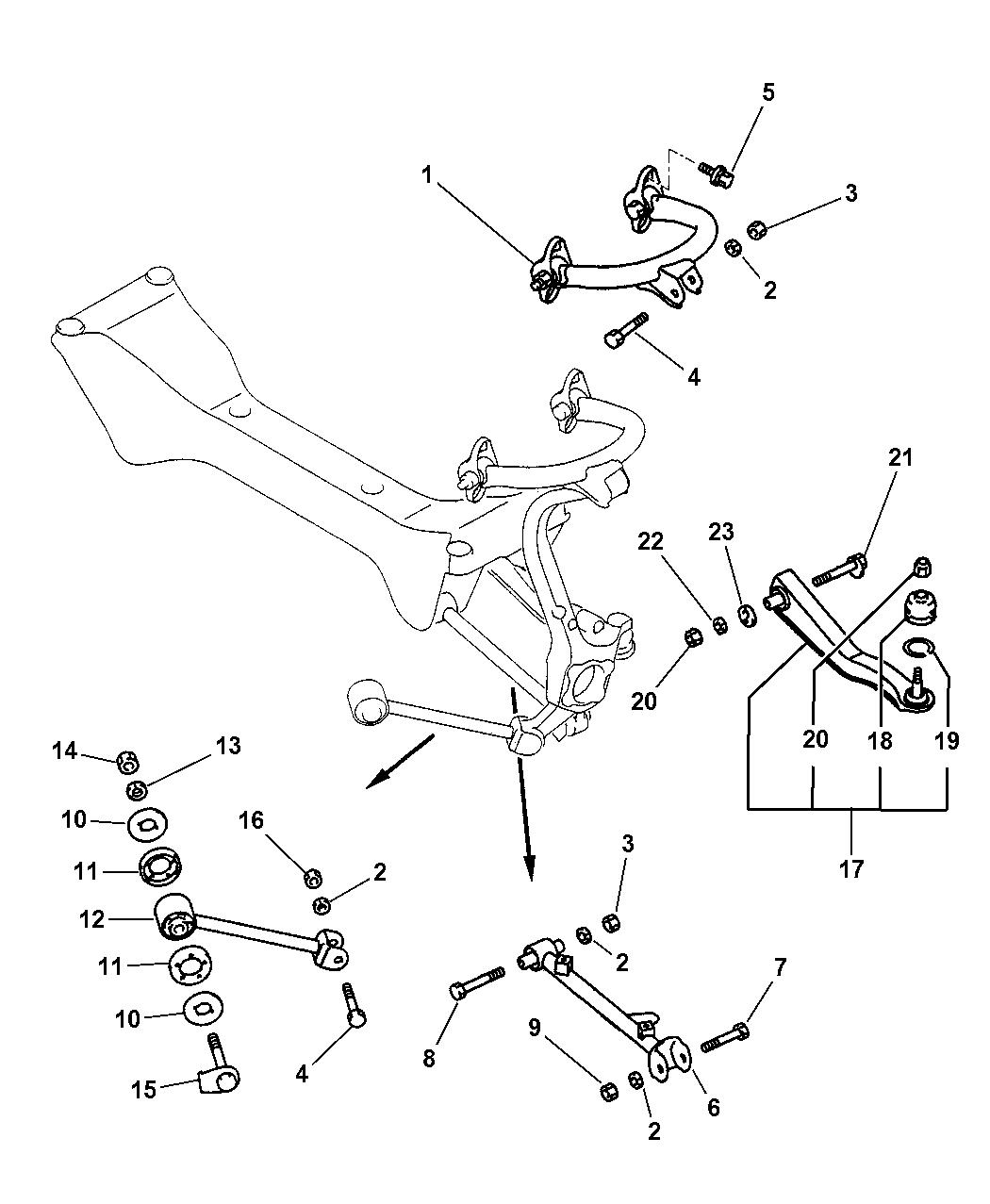 1995 Dodge Dakota Rear End Diagram