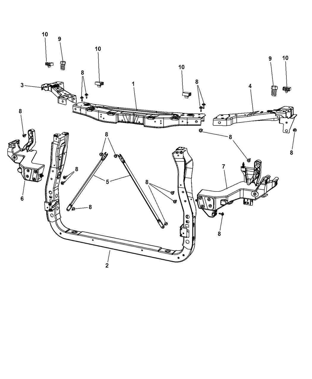 2015 Dodge Durango Radiator Support