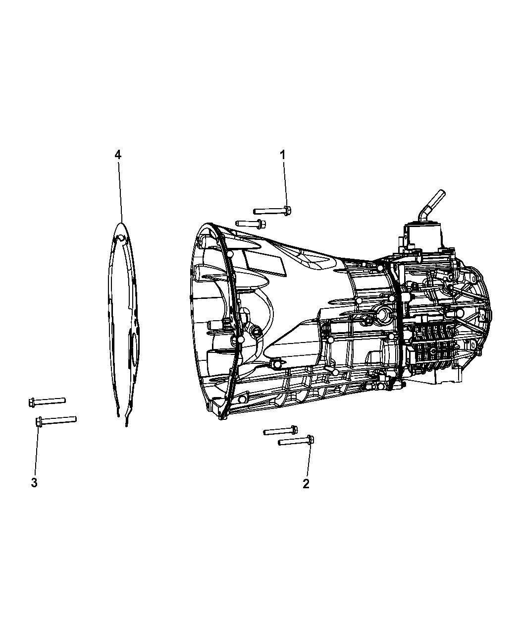 2008 Dodge Nitro Mounting Bolts Of Manual Transmission