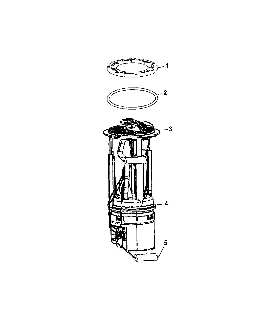 5140832ab Genuine Mopar Module Fuel Pump Level Unit Drawing 2007 Jeep Liberty Sending