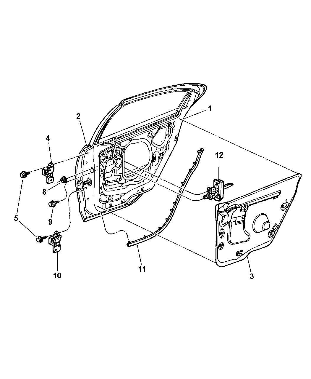 4780159 Genuine Dodge Weatherstrip