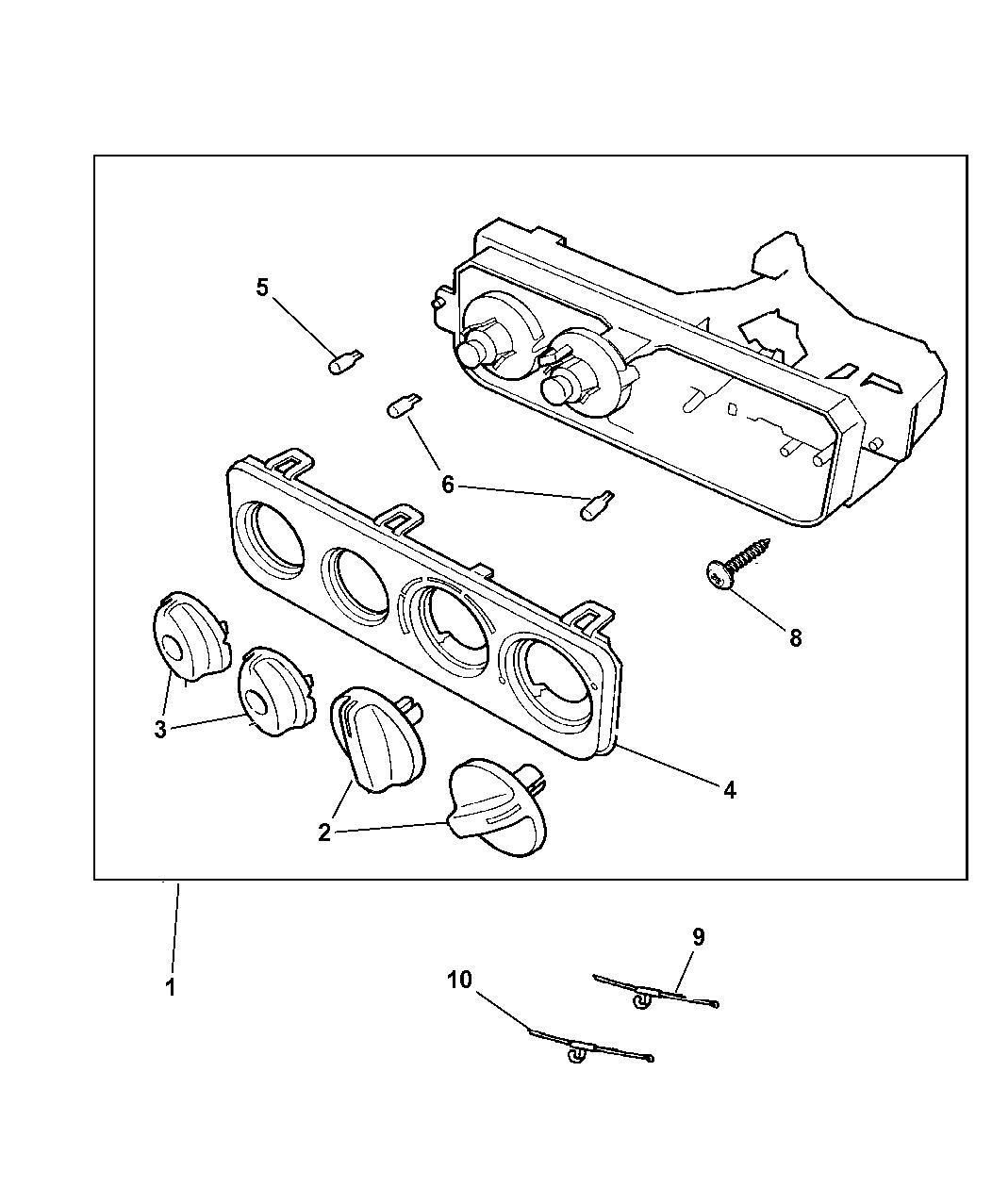 1997 Chrysler Sebring Convertible Controls A  C  U0026 Heater