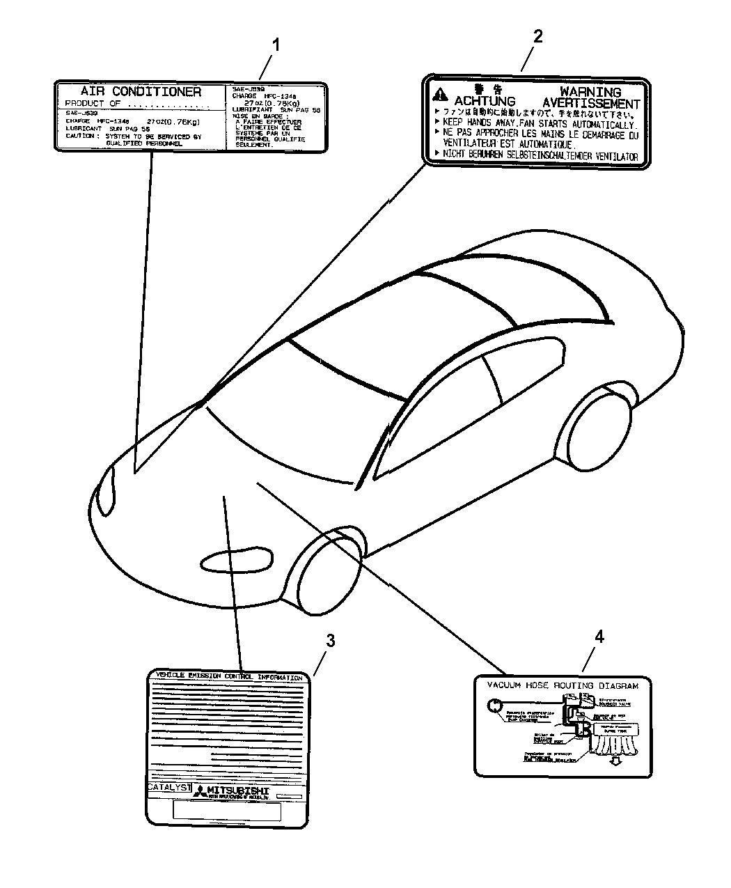 2004 Dodge Stratus Coupe Engine Compartment