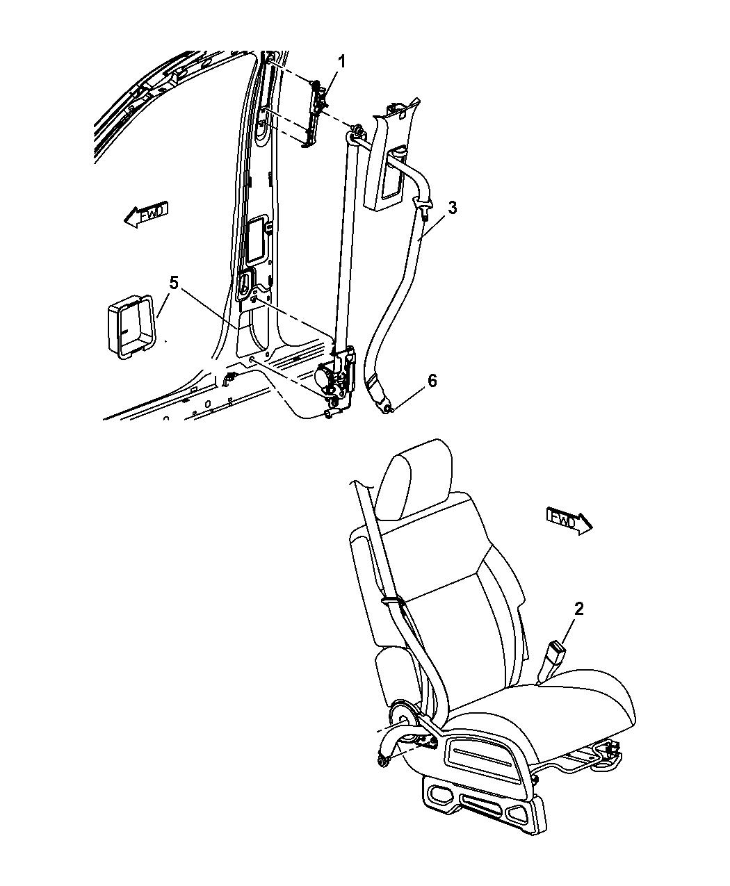 5kj641j8ab genuine dodge seatbelt frontinner. Black Bedroom Furniture Sets. Home Design Ideas