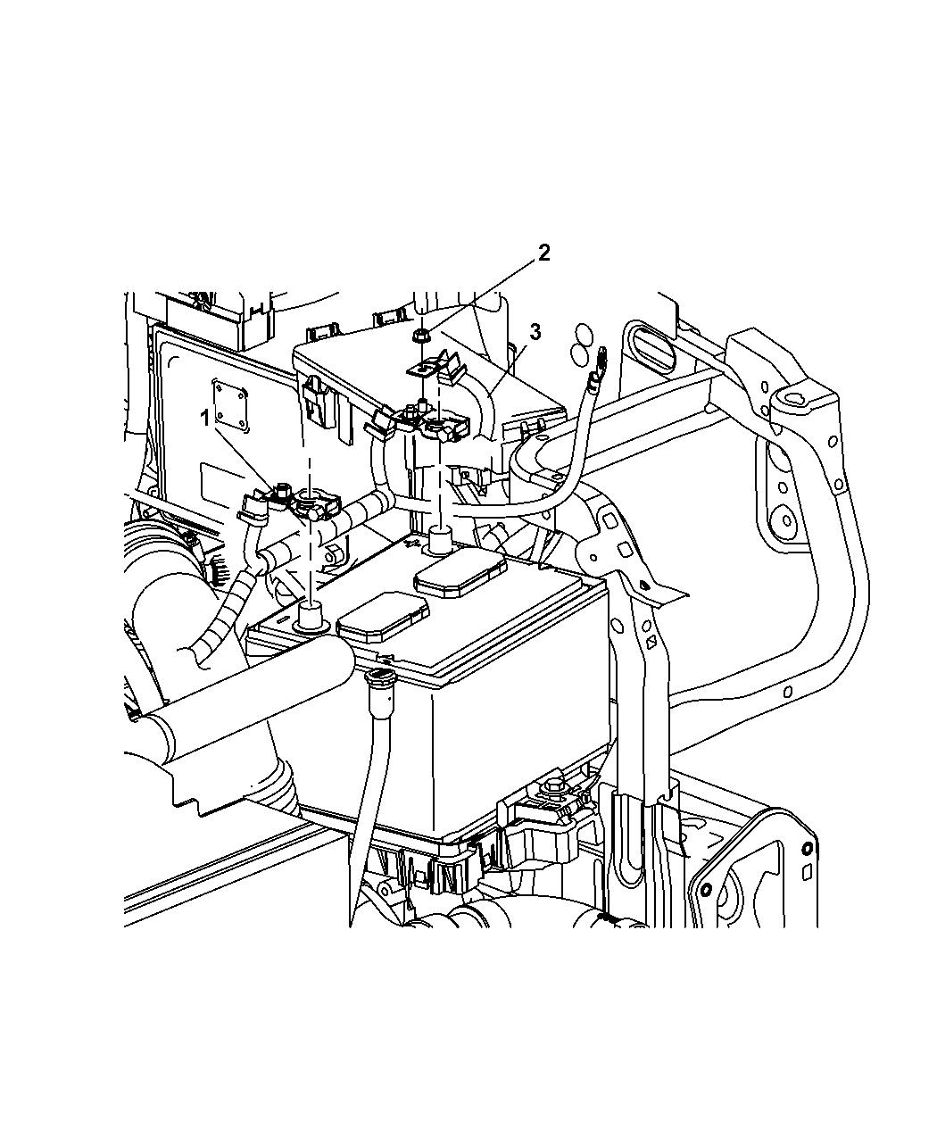 2013 jeep patriot battery wiring mopar parts giant. Black Bedroom Furniture Sets. Home Design Ideas