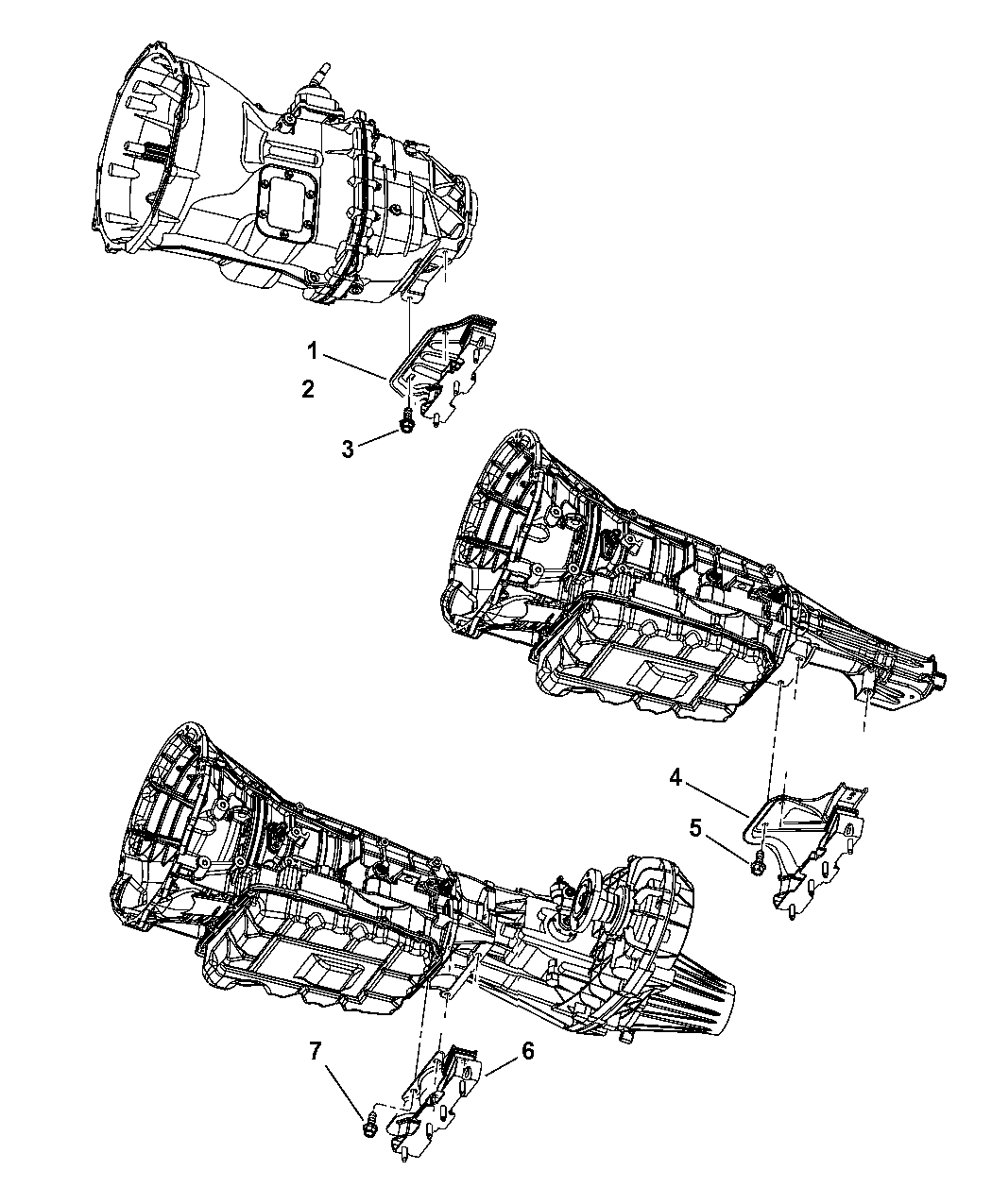 Genuine Chrysler 52121763AA Transmission Mount Bracket