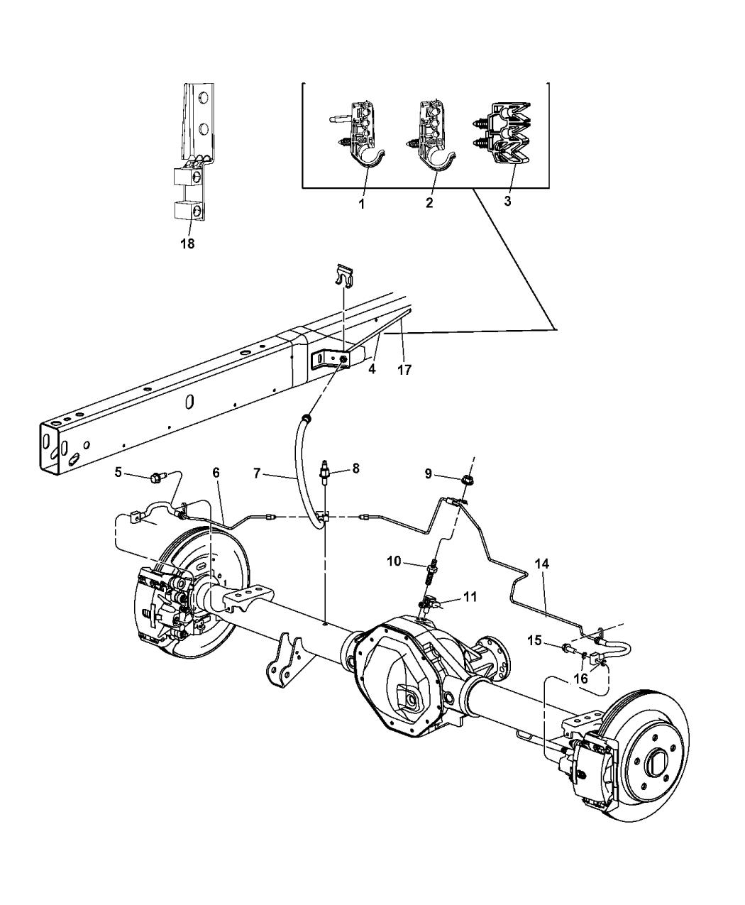 68248397AB - Genuine Ram CLIP-ABS SENSOR WIRING