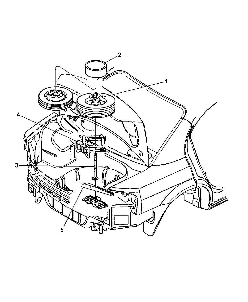 2005 Dodge Stratus Sedan Spare Tire Stowage Mopar Parts Giant Engine Diagram