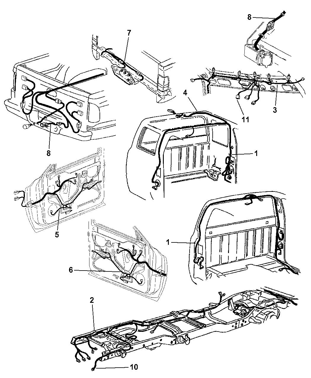 1999 Dodge Ram 2500 Regular Cab Wiring - Body & Accessories