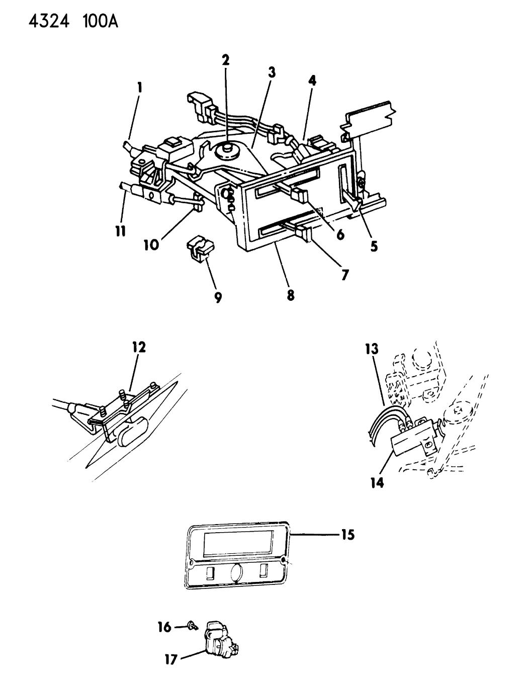 1984 Dodge Ram Van Control Heater