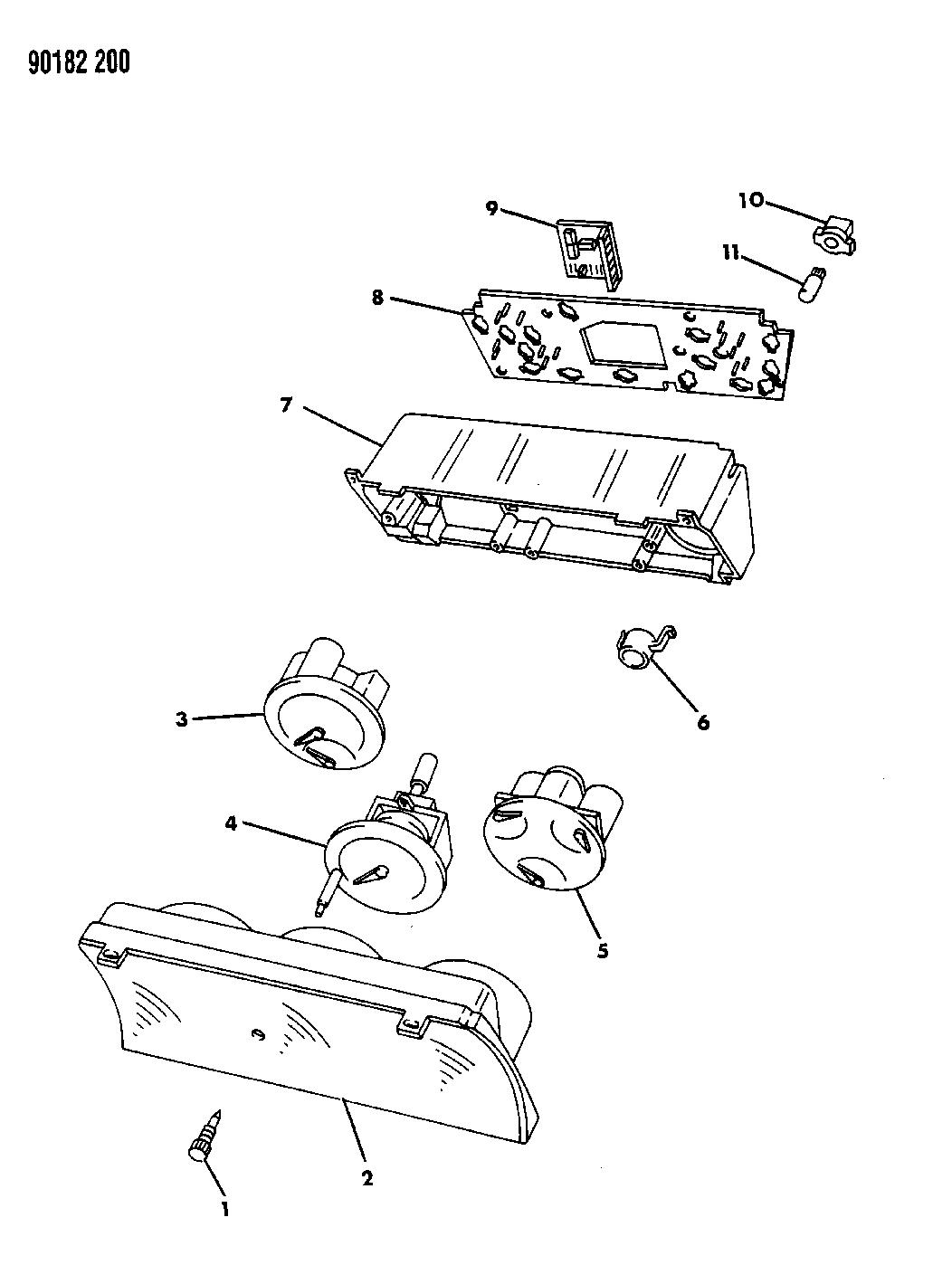 1990 Dodge Omni Instrument Panel Cluster Mopar Parts Giant Wiring Diagram