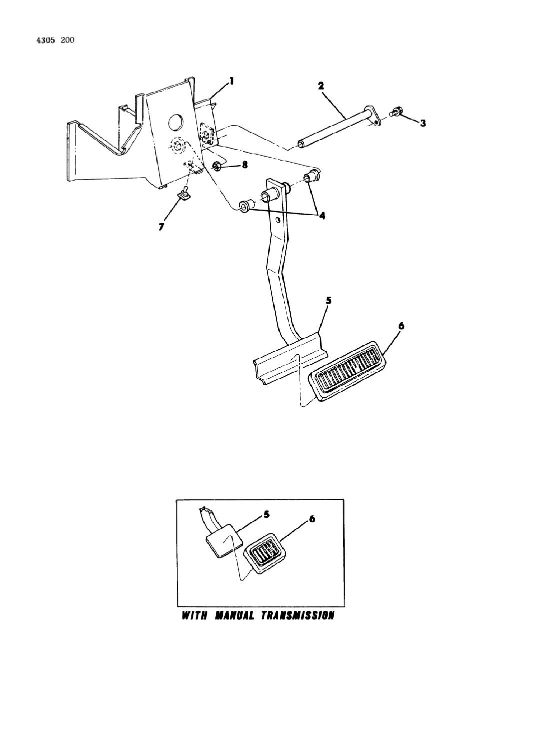1984 dodge w150 brake pedal