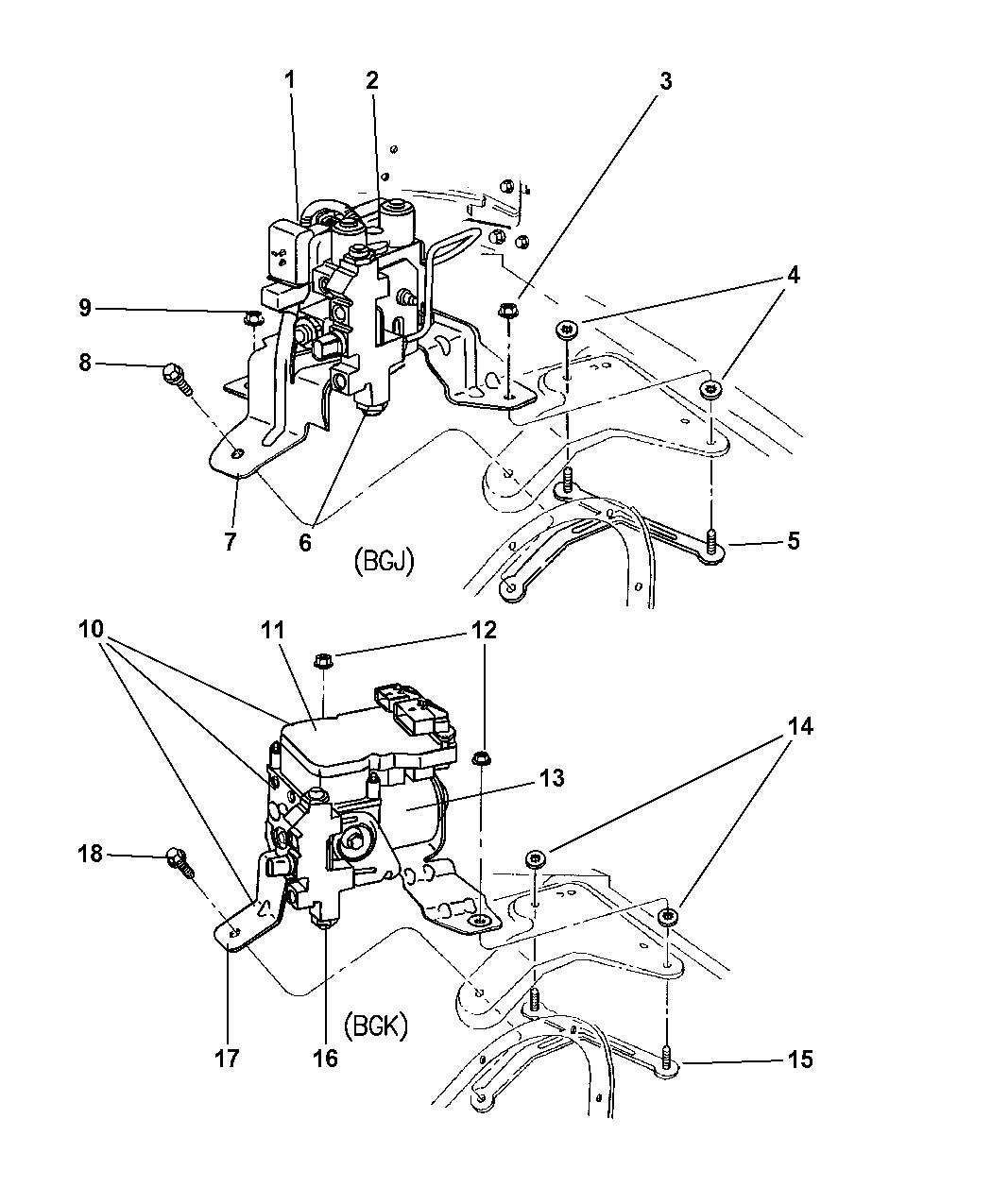 5015529ac Genuine Mopar Module Anti Lock Brakes
