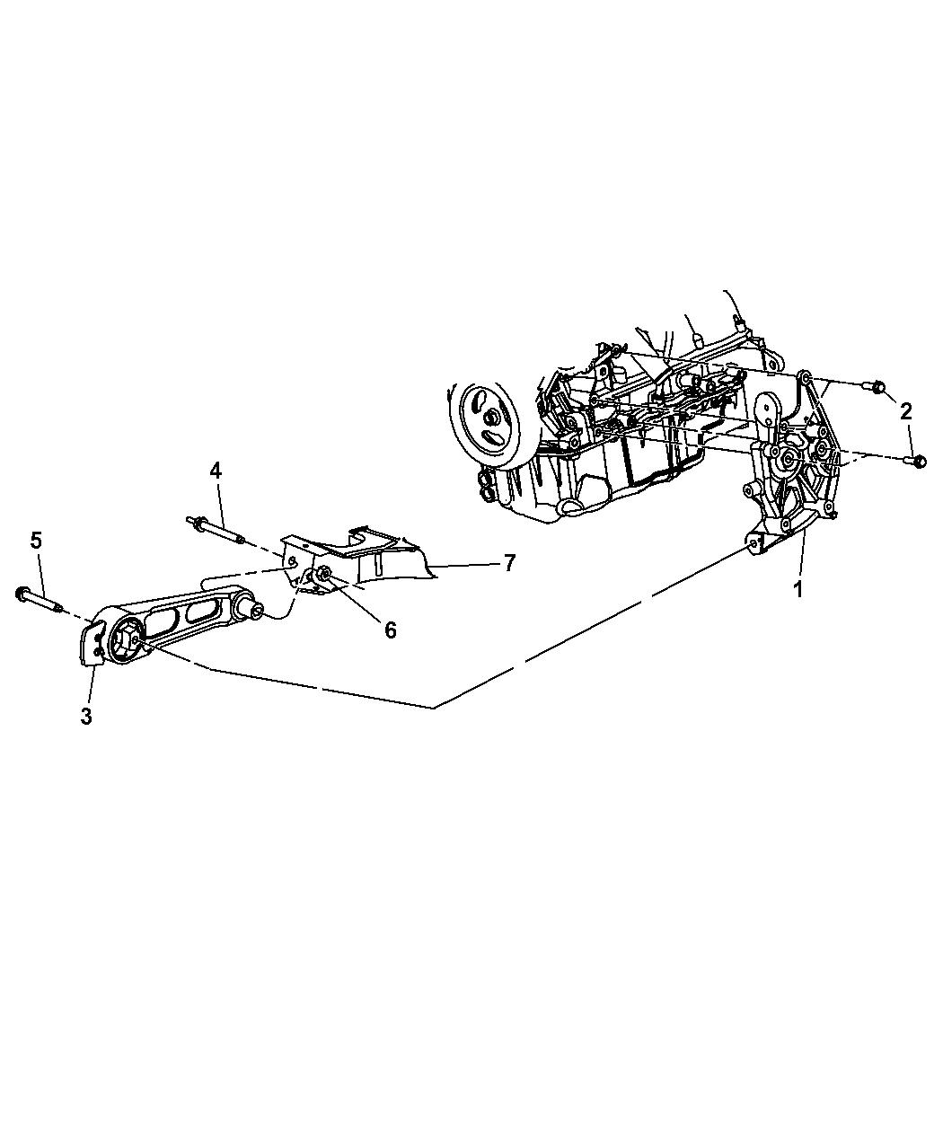 2009 Chrysler Pt Cruiser Engine Mounting Mopar Parts Giant Diagram Thumbnail 1