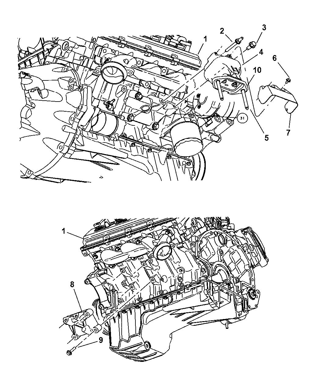 4578046ac Genuine Mopar Support Engine Support
