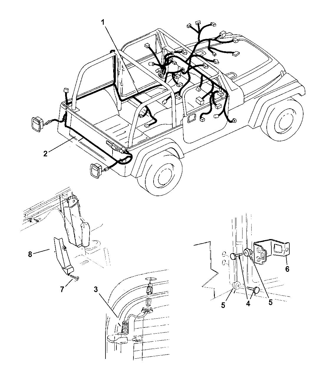 2002 Jeep Wrangler Wiring   Body U0026 Accessories